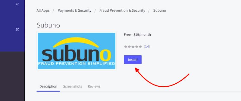 Bigcommerce Subuno app installation step 2