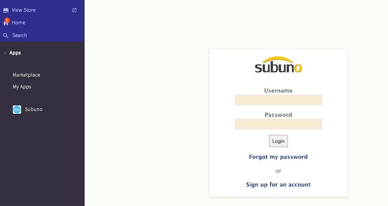 bigcommerce subuno installation login